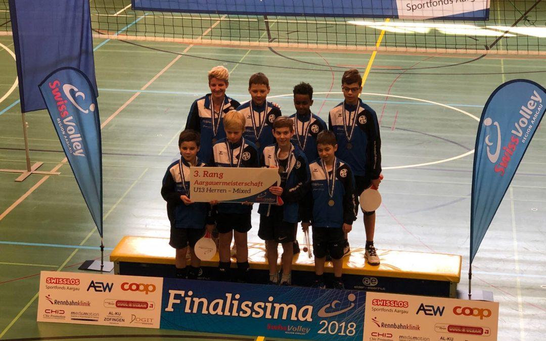 3. Rang der U13 Junioren am Aargauischen Kantonsfinale