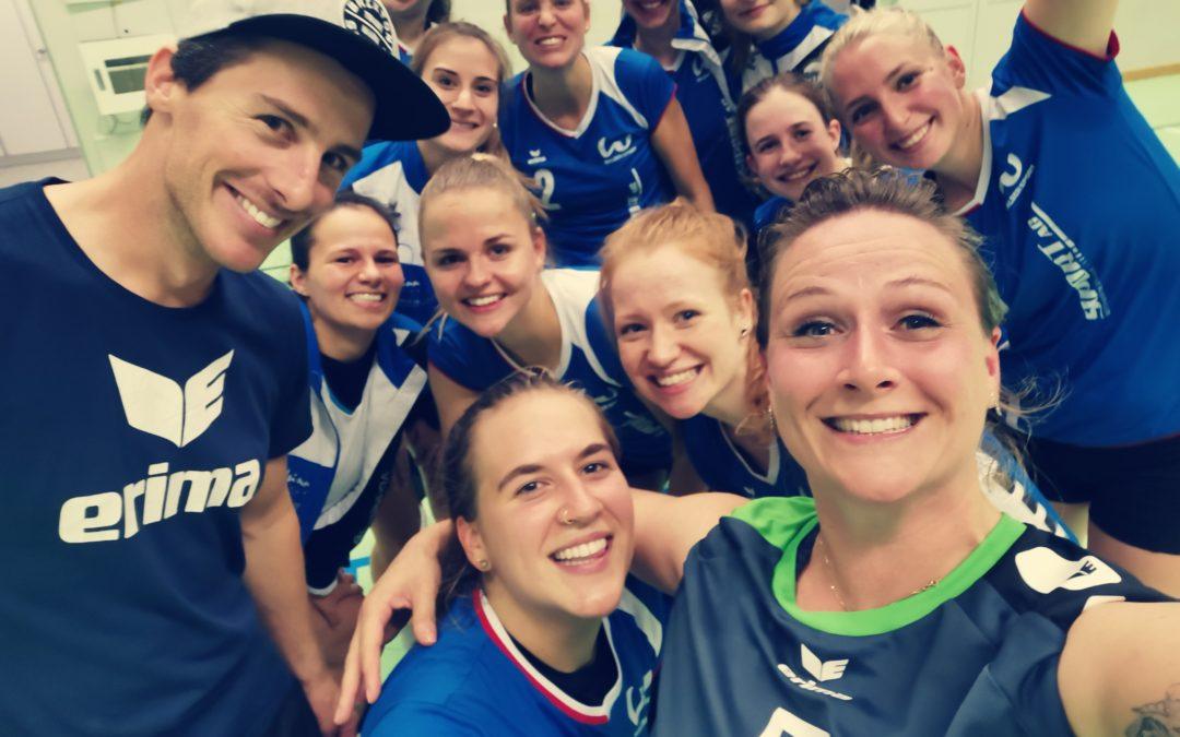 Damen 1 feiert sich: Eine Runde weiter im Schweizer Cup!